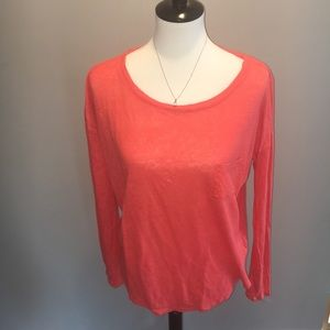 Coral size large long sleeve Cynthia rowley